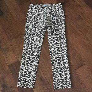 J. McLaughlin black and white print pants